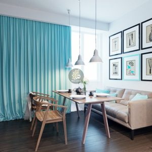 rèm cửa phòng khách đẹp cho căn hộ gia đình