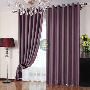 Rèm vải gấm trơn đầy ấn tượng, tăng vẻ đẹp căn phòng