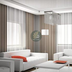 Xu hướng chọn rèm vải chống nắng 1 màu đơn giản và tinh tế