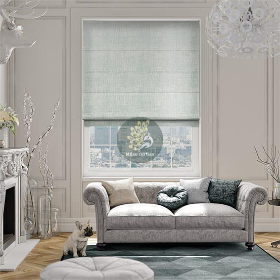 Lắp đặt rèm roman cho phòng khách và phòng ngủ
