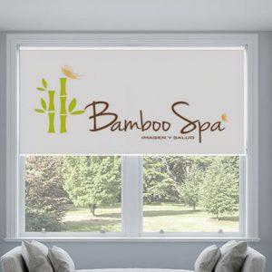 Rèm cuốn chống nắng văn phòng in logo, in hình ảnh